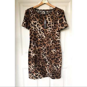 Cheetah Print Dress W118 NWT
